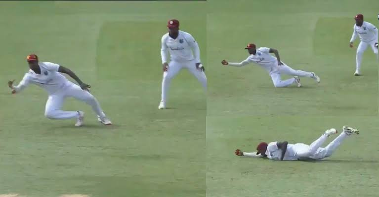 Jason Holder draws attention with a brilliant catch in WI v RSA test