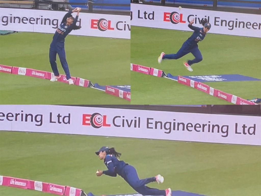 Harleen Deol's flying catch takes Twitter by storm
