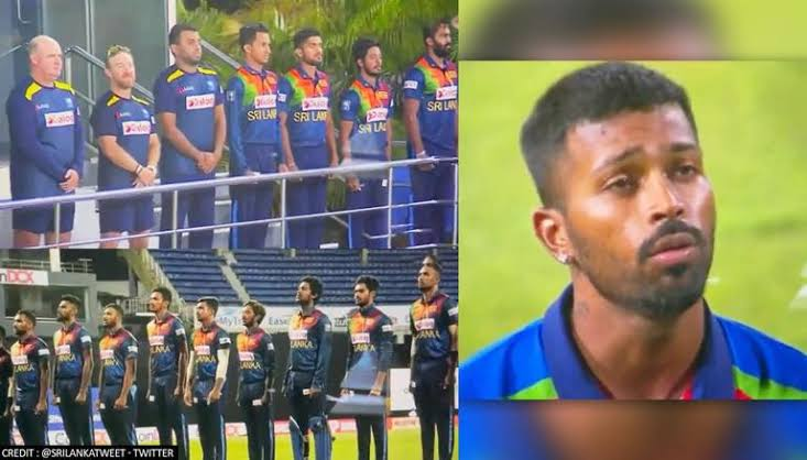 Hardik Pandya's singing of Sri Lanka national anthem