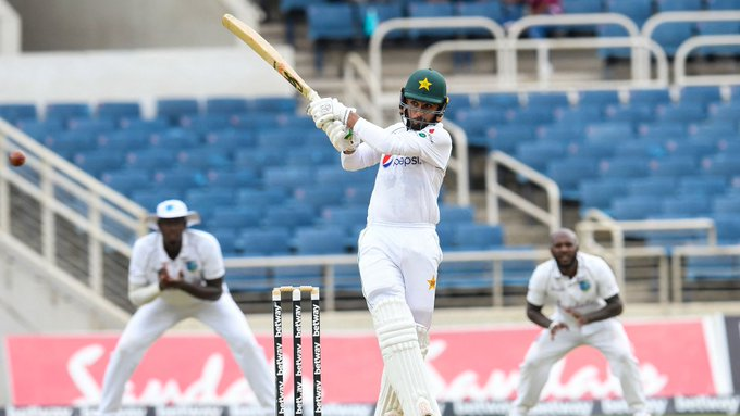 Pak lead by only 124 runs with 5 wickets in hand vs West Indies in 1st test