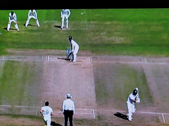 Rishabh Pant does shadow batting at non-strikers end