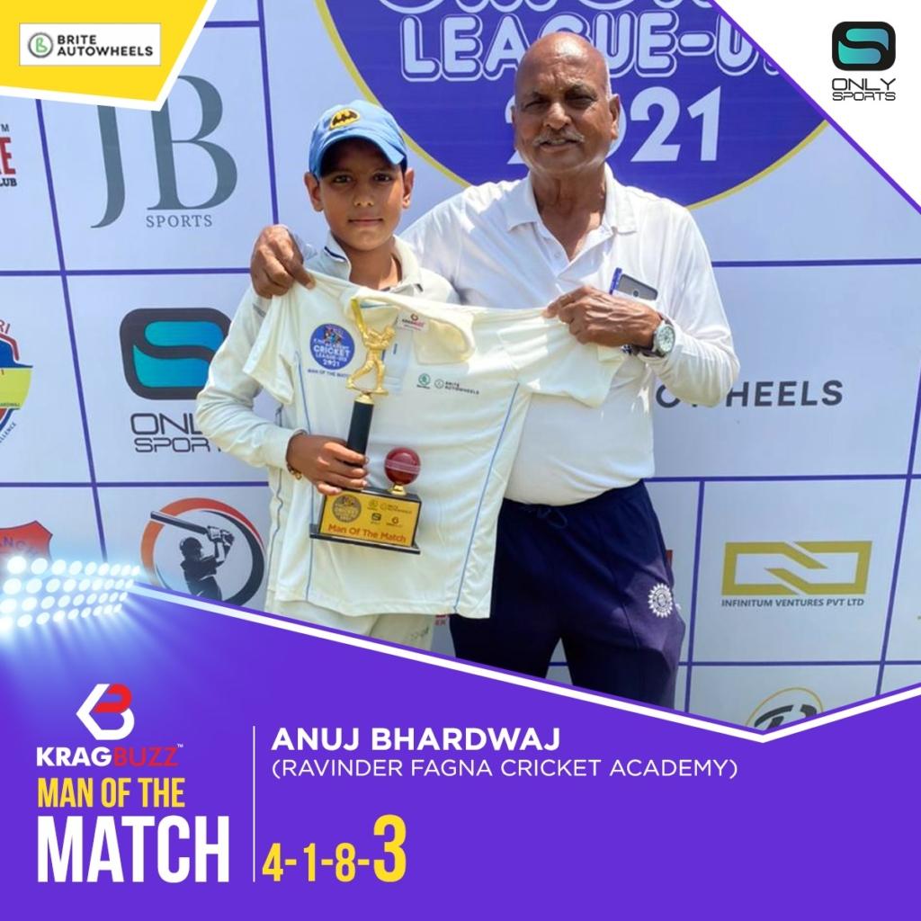 Ravinder Fagna U-13 won Push Academy Cricket League U -13 by 5 wickets