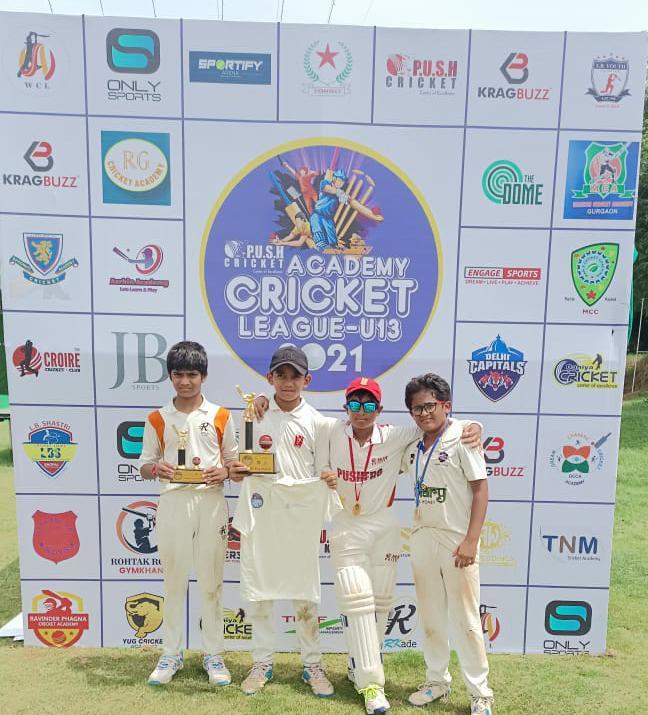 Push Dahiya CA U-13 won by 10 wickets in Push Academy Cricket League U -13 2021