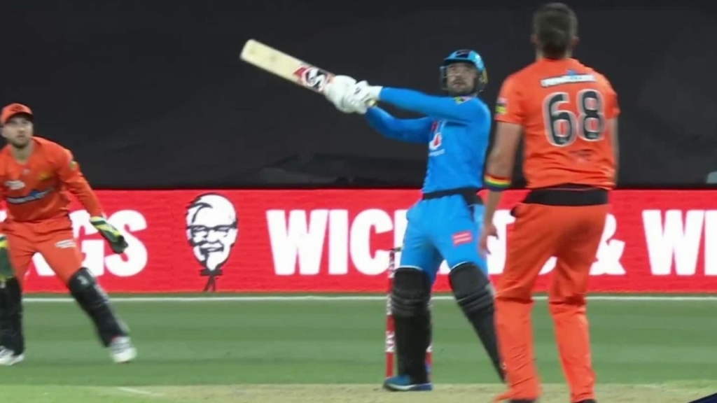 Rashid Khan enacts Dhoni's patent Helicopter shot in Vitality blast