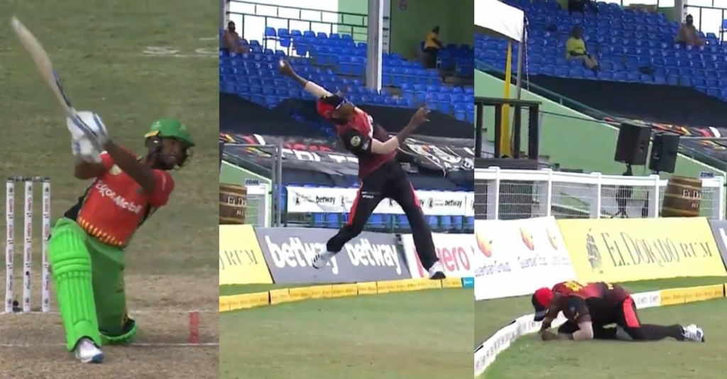 Akeal Hosein takes a stunner in CPL T20 to make Twitter go crazy