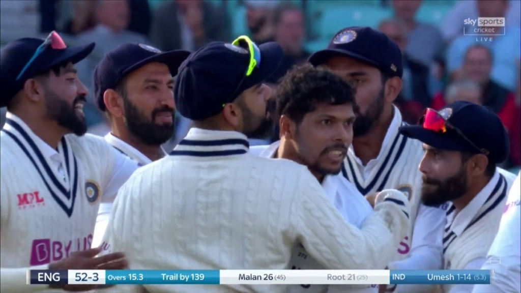 Umesh wicket of Joe Root causes Indians to celebrate on twitter