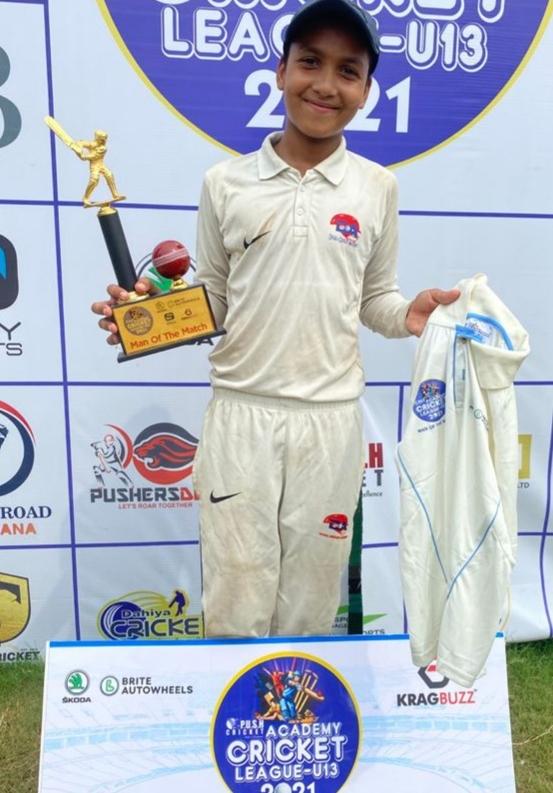 RR Gymkhana's Lakshya Clinches a win in PUSH ACADEMY CRICKET LEAGUE U -13 2021