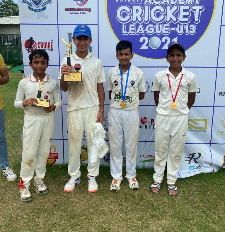 Mihier Doi Ganesh century made Sonnet win in PUSH ACADEMY CRICKET LEAGUE U -13 2021