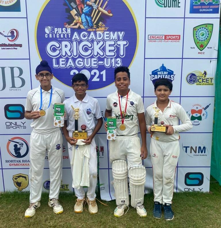 Fantastic win for Delhi Capitals in Push Academy Cricket League U-13 2021